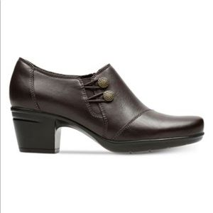 NWOT Clark's Emslie Warren Ankle Leather Booties